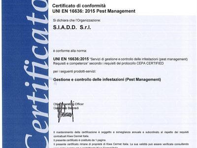 Certificazione UNI EN 16636 – Il futuro del Pest Control